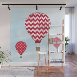 Red Hot Air Balloons Wall Mural