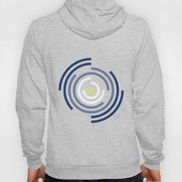 Spin Cycle – Navy / Yellow / Blue Circle Pattern Hoody