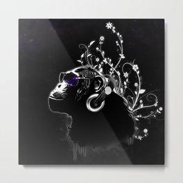 Monkey Tripping - Black Metal Print