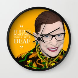 Deaf RBG Wall Clock