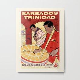Vintage travel poster-Trans-Canada Air lines-Barbados. Metal Print