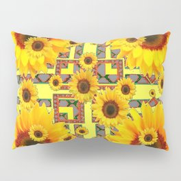 KANSAS WESTERN STYLE YELLOW SUNFLOWER FLORAL Pillow Sham