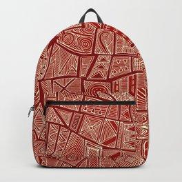 ESHE red mono Backpack