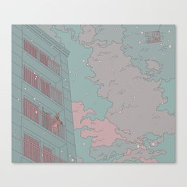 aquamarine and pink Canvas Print