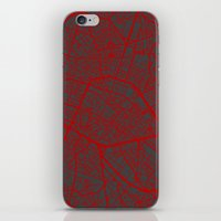 brussels iPhone & iPod Skins featuring Brussels by Map Map Maps