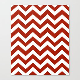 Rufous - red color - Zigzag Chevron Pattern Canvas Print