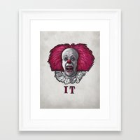 pennywise Framed Art Prints featuring Pennywise by zinakorotkova