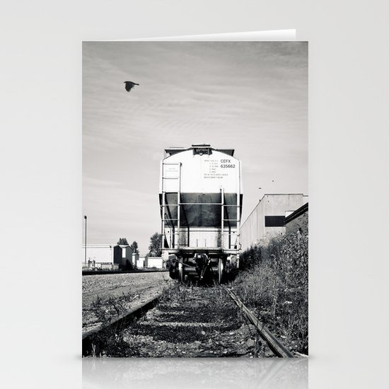Train car waiting Stationery Cards
