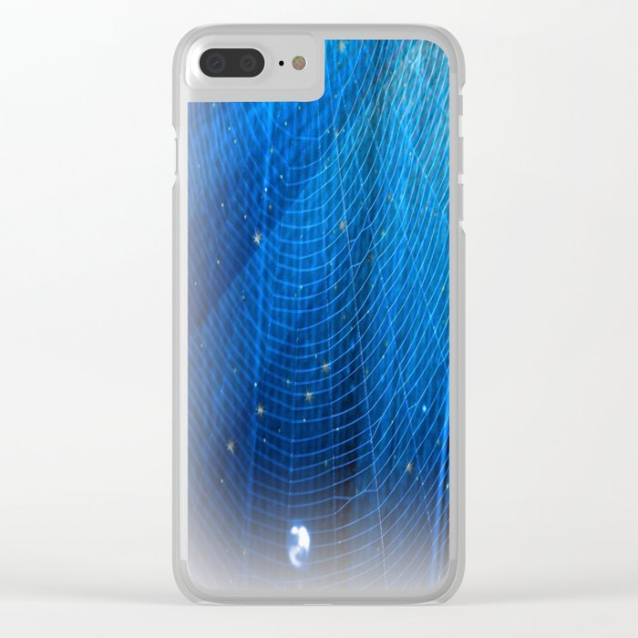 Raindrop on Blue Web Clear iPhone Case