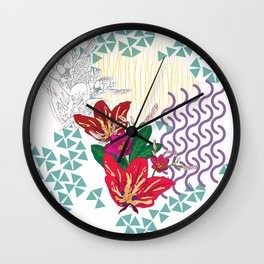 Tropical Heat Wall Clock