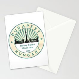 Budapest, Heroes' Square, Hosök tere, Hungary, circle Stationery Cards