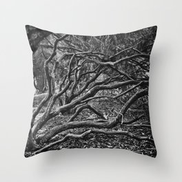 Silver Trees and Crooked Roots Throw Pillow