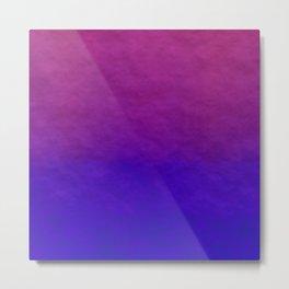 Deep Magenta Purple Ombre Watercolor Metal Print