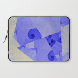 Fractal Designs Blue Face at GreenBeeMee Laptop Sleeve