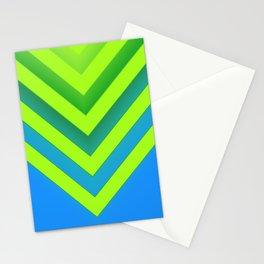 Sky & Lime Chevron Stationery Cards