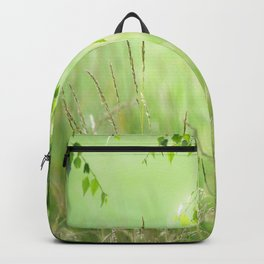 #nature #Birch #leaves with #Green #Grass #beautiful #homedecors Backpack