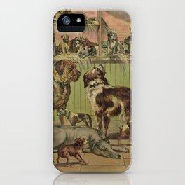 Vintage Illustration of Various Dog Breeds (1893) iPhone Case