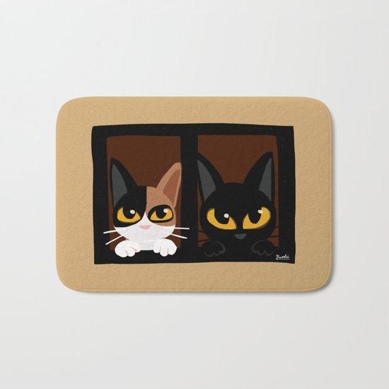 Lovely two cats Bath Mat
