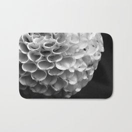 Serene White Flower Bath Mat