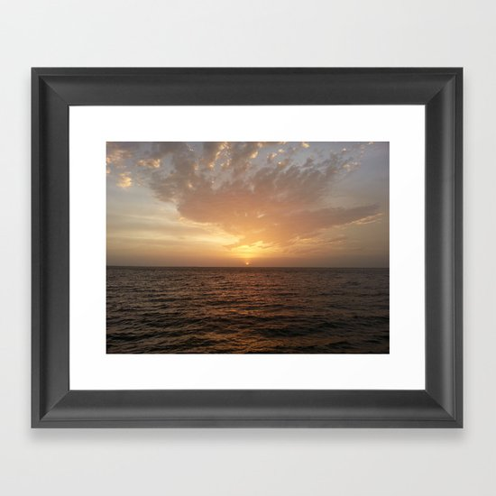 Alabama sunset Framed Art Print