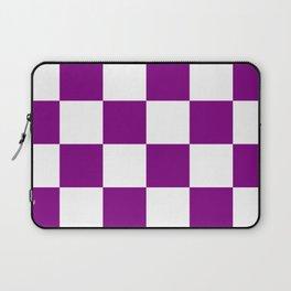 Large Diamonds - White and Purple Violet Laptop Sleeve