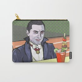 Dracula enjoying a bloody mary at Applebee's. Carry-All Pouch