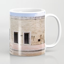 Riding a Bike in Merida, Mexico Coffee Mug