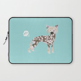 chinese crested funny farting dog breed gifts Laptop Sleeve