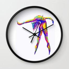 Neon Dancer Wall Clock