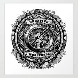 creative work force Art Print