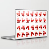 unicorns Laptop & iPad Skins featuring Peppermint Unicorns by That's So Unicorny