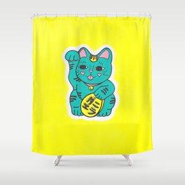 Manekineko Shower Curtain