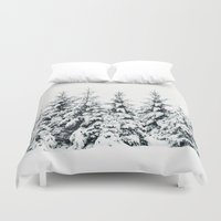 snow Duvet Covers featuring Snow Porn by Tordis Kayma