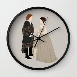 Outlander, Jamie and Claire Wall Clock