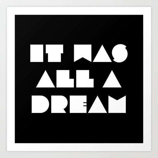 It was all a dream by rebeccahartdesign