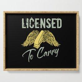 Licensed to carry - Barber Design Serving Tray
