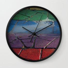 Street Paved with Raimbow Wall Clock
