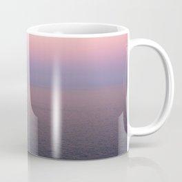 Endless pink horizon at sunset on the Amalfi Coast Coffee Mug