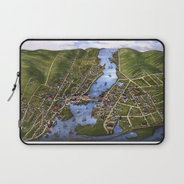 MYSTIC RIVER CONNECTICUT city old map Father Day art print Laptop Sleeve