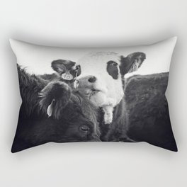 Kissing Cows Print Rectangular Pillow