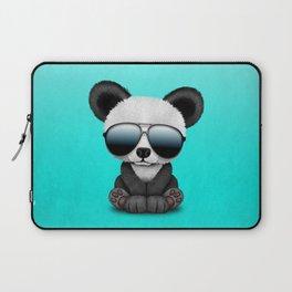 Cute Baby Panda Wearing Sunglasses Laptop Sleeve