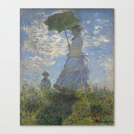 Art Woman with a Parasol Madame Monet and her son Claude Monet Canvas Print