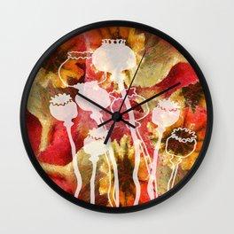 Popy variation 5th Wall Clock