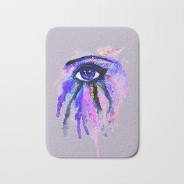 Blue eye splashing Bath Mat
