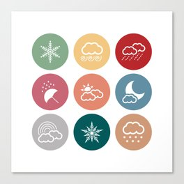 Weather symbol Canvas Print