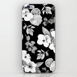 Night bloom - moonlit bw iPhone Skin