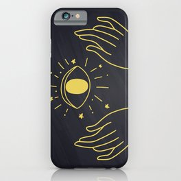 Hands Holding Magic Eye, Boho Style iPhone Case