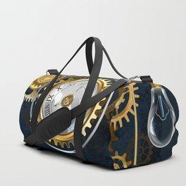 Steampunk Watches and Bulbs Duffle Bag