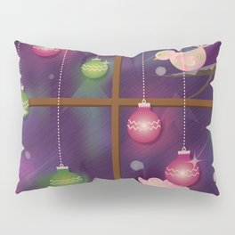 Christmas Window at Night Pillow Sham