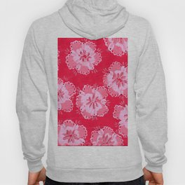 Cranberry Lace Rose Hoody